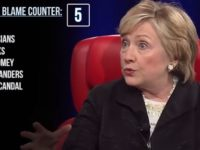 Hilarious: Video Keeps Tally Of How Many Different Things Hillary Has Blamed For HER Election Loss